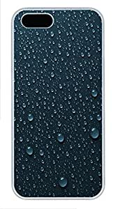 iPhone 5 5S Case Droplets PC Custom iPhone 5 5S Case Cover White