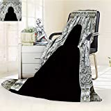 VROSELV Luminous Microfiber Throw Blanket thai ancient white plaster stucco decorative gate in front of thai temple Glow In The Dark Constellation Blanket, Soft And Durable Polyester(60''x 50'')