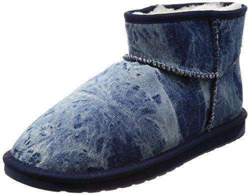 Emu Australië Damesschoen Denim Micro Winter Echte Schapenvacht Laarzen Indigo Nood