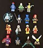 15 pcs movie DC Marvel X-men superhero mastique jean nightcrawler storm colossus professor angel wolverine apocalypse building blocks lot
