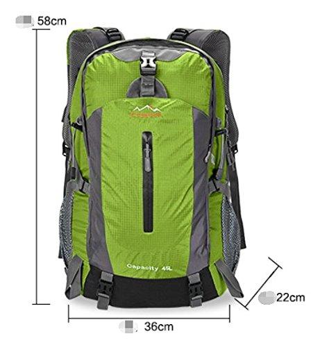 zaino esterno/sacchetto di alpinismo/Zaino da viaggio/escursione-Erba verde 50L