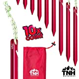 Kyпить TNH Outdoors 10X Aluminum Tri-Beam Tent Stakes and Bag - Made for Camping - Support A Start Up (Small) на Amazon.com