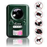Ultrasonic Cat Repellent - VOLADOR Outdoor Solar Powered Animal Repeller Pest Control with Motion Sensor Dog - Raccoon - Mice - Skunk Repellent