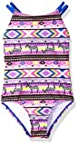 Freestyle Little Girls' One Piece Criss Cross Back Africa Swimsuit, Multi, 6