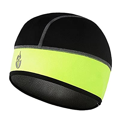 Borvelo Bike Cycling Fleece Thermal Cap,Thermal Fleeced Skull Cap,Helmet Liner for Winter Bike Cycling