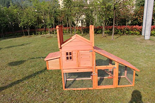 Chicken Poultry Coop Hen House Rabbit Hutch Cage-Xlarge 6010-0315, Not Applicable by MCombo
