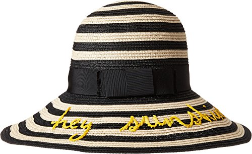 Kate Spade New York Women's Hey Sunshine Sun Hat Black One Size by Kate Spade New York (Image #2)