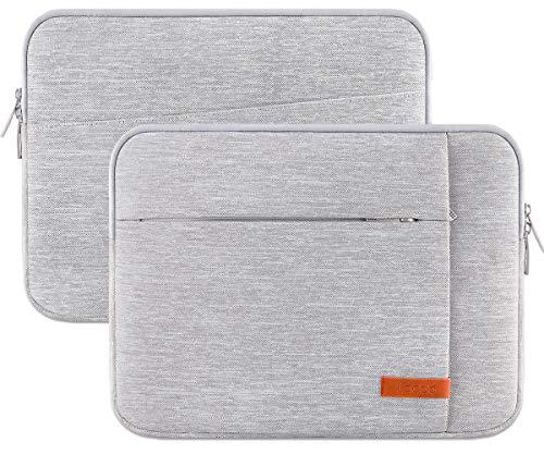 "Lacdo 15.6 Inch Laptop Sleeve Case Computer Bag for 15.6"" Acer Aspire/Predator, Inspiron, ASUS ZenBook Pro 15 VivoBook, HP Pavilion, Lenovo IdeaPad 330, ThinkPad E590, Chromebook Water Resistant, Gray"