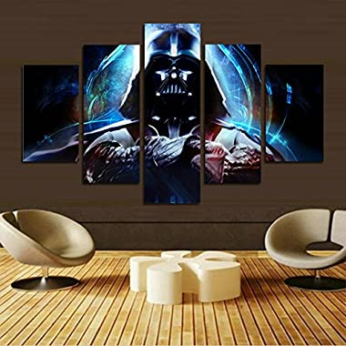 H.COZY 5 panel modern art wall Stormtrooper Star Wars movie poster wall decoration painting fine art print on canvas (unframed)The product has no frame far41 50 inch x30 inch