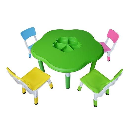 Juego de mesa y silla para niños, se puede elevar y bajar para ...