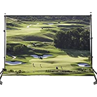 Lyly County 100% Polyester 5x7ft Green Golf Course Vista Background For Picture Studio Photography Backdrop Props Wall (Upgrade material)LY043
