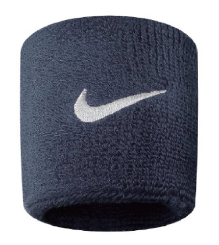 Nike Swoosh Wristbands (Obsidian/White, Osfm) by Nike (Image #1)