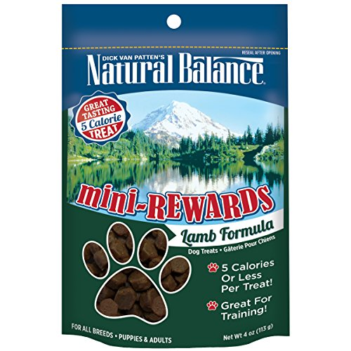 Natural Balance Mini Rewards Dog Treats, Lamb Formula, 4-Ounce
