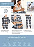 CQR Men's 100% Cotton Plaid Flannel Pajama