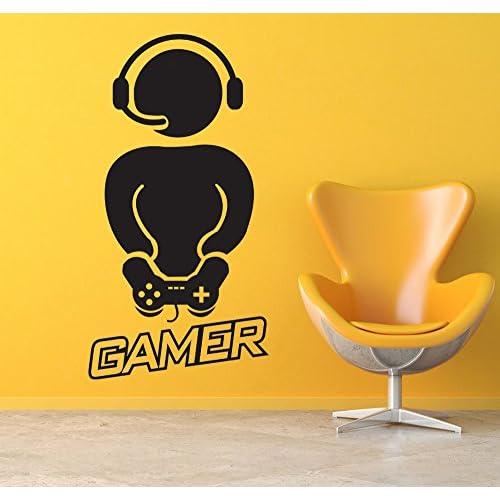 best Gamer with Controller Wall Decals Vinyl Wall Sticker Wall Art ...