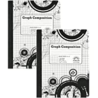 4 x 4 Ruled Graph Composition Book (Pack of 2 Books)