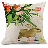 Pillow Cover, Jujunx Easter Sofa Bed Home Decoration Festival Pillow Case Spring Fresh Cushion Cover (I)