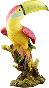 Figure Perroquet Résine Animal Sculpture Jardin Zoo Ornement Décoration