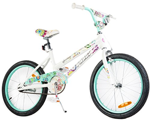 Tauki 20 Inch Girl Bike Kid Bike for Girls, Green/Pink, 95% assembled, for 8-14 Years Old
