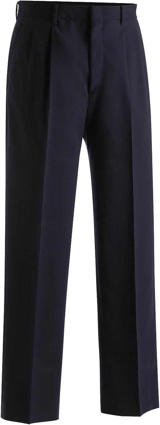 Navy 48 UR Edwards Garment Mens Lightweight Wool Blend Pleated Pant