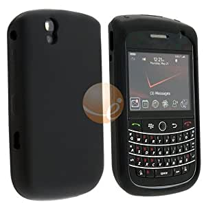 Black Silicone Skin Case Cover For Blackberry Bold 9650