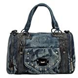 BIPE Women Zippered Denim Bags Shoulder Bags, Bags Central