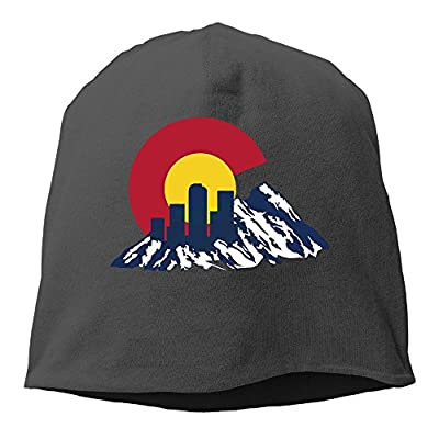Flag Of Colorado Rocky And Skyline Hedging Knitted Hat Beanies Caps