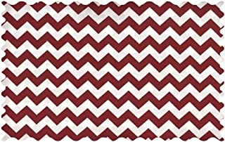 product image for SheetWorld Burgundy Chevron Zigzag Fabric - By The Yard