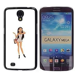 // PHONE CASE GIFT // Duro Estuche protector PC Cáscara Plástico Carcasa Funda Hard Protective Case for Samsung Galaxy Mega 6.3 / Brunette del polluelo /
