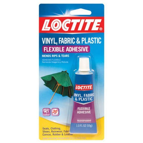 Loctite Vinyl, Fabric and Plastic Repair Adhesive 1-Ounce Tube (1360694) (2 Pack) ()