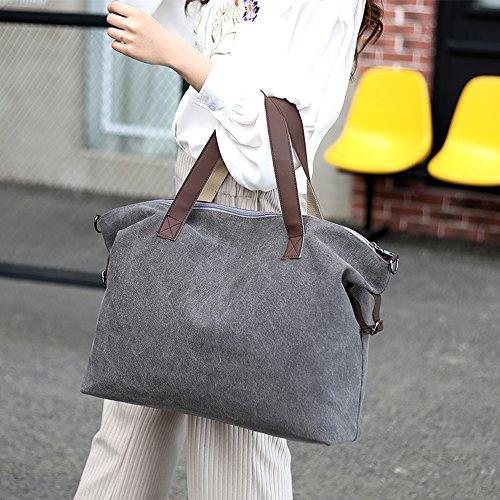 Portés Main Grande Épaule Young Sacs Gris Ming Handbag Bandoulière Toile Cabas Femme Sac amp; ZCpqxwR