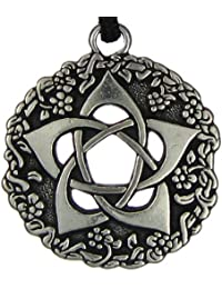 Pentacle of the Goddess Wiccan Jewelry Pagan Pentagram Necklace by Pepi