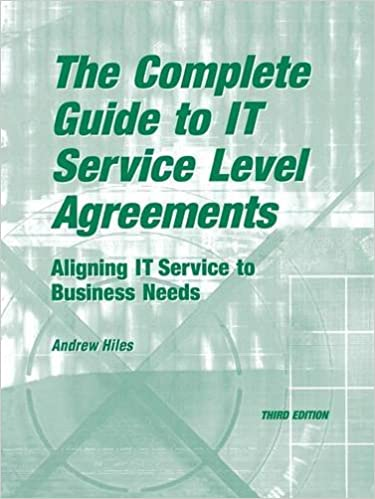 Amazon The Complete Guide To It Service Level Agreements