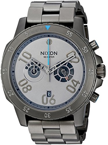 Nixon-Mens-Ranger-Chrono-SW-Millenium-Falcon-Gunmetal-Quartz-Stainless-Steel-Casual-Watch-ColorSilver-Toned-Model-A549SW-2385-00