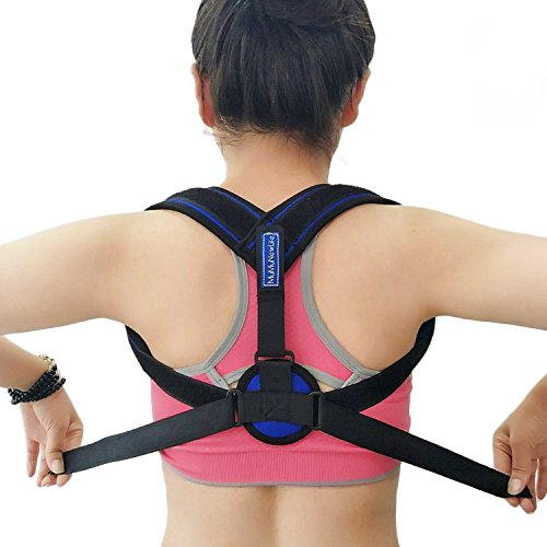 Posture Corrector for Women and Men Back Adjustable Clavicle Brace Shoulder Posture Support Strap Outdoors Sports Shoulder Supports by Mumu New Life