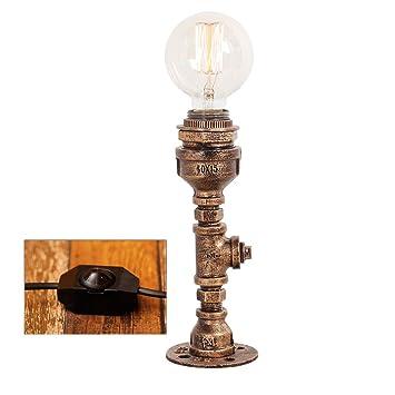 CXD Lámpara de Mesa Industrial Bronce Vintage Lámpara de ...