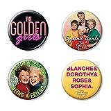 Ata-Boy The Golden Girls Set of 4 1.25' Collectible Buttons