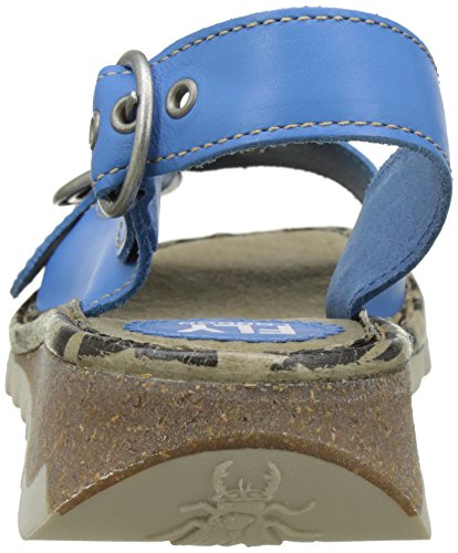 Mujer Smurf London Sandals para Tram723fly 006 Heels Azul Fly Blue pBX6qq