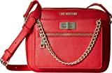 LOVE Moschino Women's Crossbody with Detachable Wristlet Red Crossbody Bag