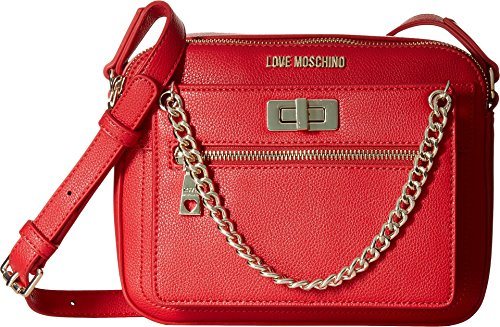 LOVE Moschino Women's Crossbody with Detachable Wristlet Red Crossbody Bag by Love Moschino