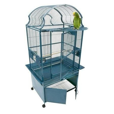 (Small Fan Top Bird Cage Color:)