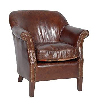 vintage sessel casa padrino luxus echtleder cigar braun mod2 leder art deco lounge ledersessel schweiz