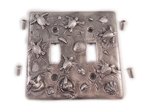 Big Blue Turtle Double Switch Light Cover Double Switc Pewter