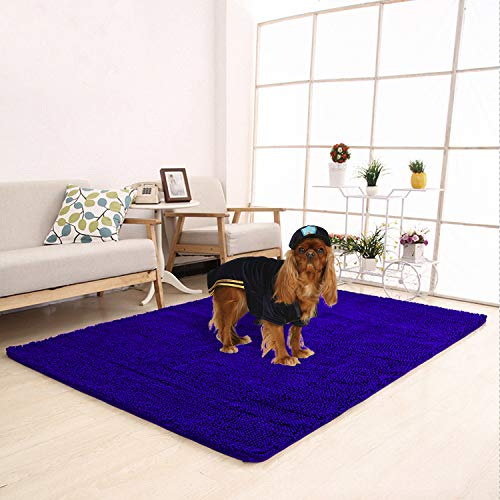 Meilocar Dog Mat Ultra Absorbent Soft Floor Mat, Pet Bed Mat/Rug for Dogs & Cats, Bathroom Non-Slip Doormat, Machine-Washable,19