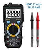 Digital Multimeter, LIUMY 6000 Counts Electronic Multi Tester with RMS, Non Contact AC DC Detector, Portable Amp / Ohm / Volt / Multi Meter Temperature, Continuity Test with LCD Backlight