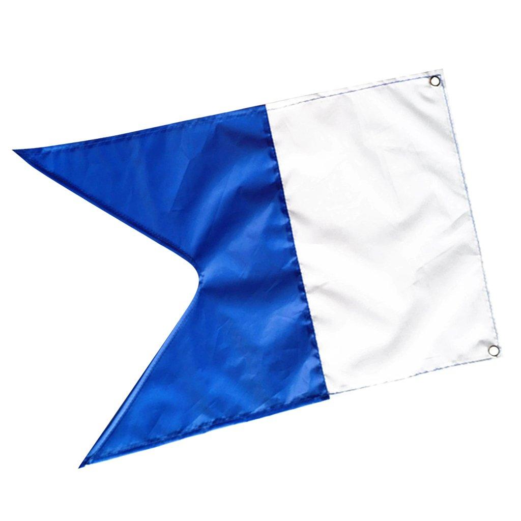 Sharplace Alpha Flag with Metal Grommets 20 x 14 (50 x 35 cm), White & Blue Scuba Dive Boat Flag