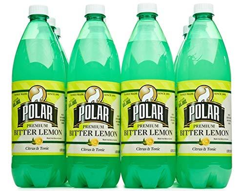 Polar Beverages Bitter Lemon, 33.8 Fluid Ounce (Pack of 12) ()
