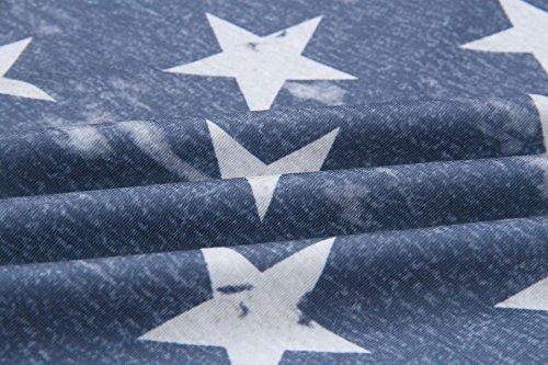 Light Glamorous Elegante Casual Estate Donna Mimetica Collo Grey Pattern Vintage Smanicato Canotta Magliette T Canottiera Moda Semplice Stampa Shirt Top Bandiere Rotondo w8RE5axq