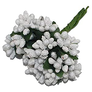 12PCS/lot Mulberry Party Artificial Flower Stamen Wire Stem/Marriage Leaves Stamen Wedding Box Decoration,14,1,11 8