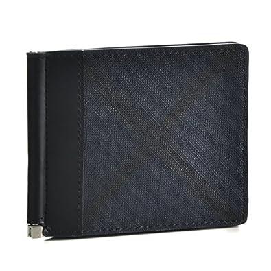 ffea04b88c7d BURBERRY(バーバリー) 財布 メンズ LONDON CHECK COLLECTION 2つ折り財布 ネイビー×ブラック 3996187